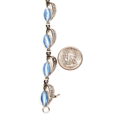 Alice Caviness Blue Moonstone Bracelet by Alice Caviness - Vintage Meet Modern Vintage Jewelry - Chicago, Illinois - #oldhollywoodglamour #vintagemeetmodern #designervintage #jewelrybox #antiquejewelry #vintagejewelry