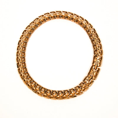 Monet Gold Woven Link Collar Necklace by Monet - Vintage Meet Modern Vintage Jewelry - Chicago, Illinois - #oldhollywoodglamour #vintagemeetmodern #designervintage #jewelrybox #antiquejewelry #vintagejewelry