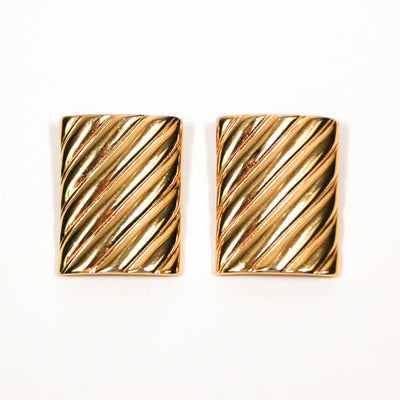 Givenchy  Couture Bold Gold Statement Earrings by Givenchy - Vintage Meet Modern - Chicago, Illinois
