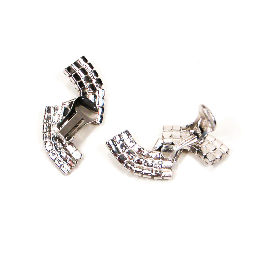 Rhinestone Wave Ear Crawler Earrings, Earrings - Vintage Meet Modern