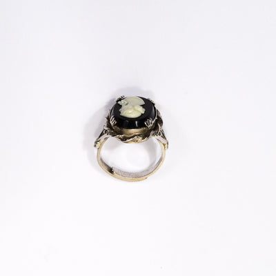 Black and White Cameo Ring by unsigned beauty - Vintage Meet Modern - Chicago, Illinois