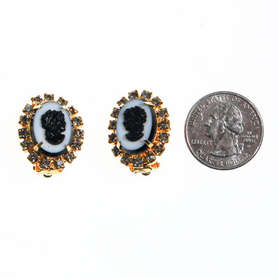 Tara Rhinestone Cameo Earrings by Tara - Vintage Meet Modern - Chicago, Illinois