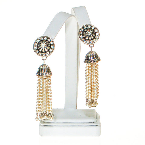 Art Deco Bezel Set Crystal Necklace and Earring Set