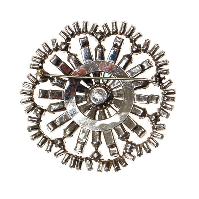 Art Deco Medallion Diamante Rhinestone Brooch by Unsigned Beauty - Vintage Meet Modern Vintage Jewelry - Chicago, Illinois - #oldhollywoodglamour #vintagemeetmodern #designervintage #jewelrybox #antiquejewelry #vintagejewelry