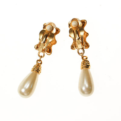 Gold Heart and Pearl Drop Earrings by Unsigned Beauty - Vintage Meet Modern Vintage Jewelry - Chicago, Illinois - #oldhollywoodglamour #vintagemeetmodern #designervintage #jewelrybox #antiquejewelry #vintagejewelry