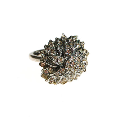 Starburst Rhinestone Statement Cocktail Ring by Unsigned Beauty - Vintage Meet Modern - Chicago, Illinois