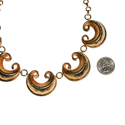 Gold Scroll Link Statement Collar Necklace by Unsigned Beauty - Vintage Meet Modern Vintage Jewelry - Chicago, Illinois - #oldhollywoodglamour #vintagemeetmodern #designervintage #jewelrybox #antiquejewelry #vintagejewelry