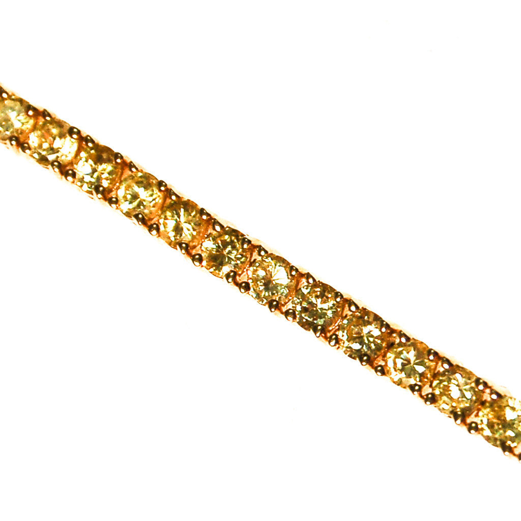 Yellow Diamond Diamonique CZ Tennis Bracelet - Vintage Meet Modern  - 1