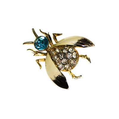 Rhinestone Bumble Bee Brooch by Unsigned Beauty - Vintage Meet Modern - Chicago, Illinois