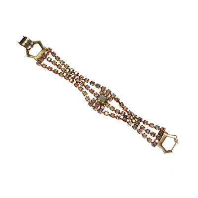 Champagne Rhinestones Bracelet by Unsigned Beauty - Vintage Meet Modern - Chicago, Illinois
