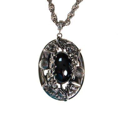 Whiting and Davis Hematite Pendant Statement Necklace by Whiting and Davis - Vintage Meet Modern Vintage Jewelry - Chicago, Illinois - #oldhollywoodglamour #vintagemeetmodern #designervintage #jewelrybox #antiquejewelry #vintagejewelry