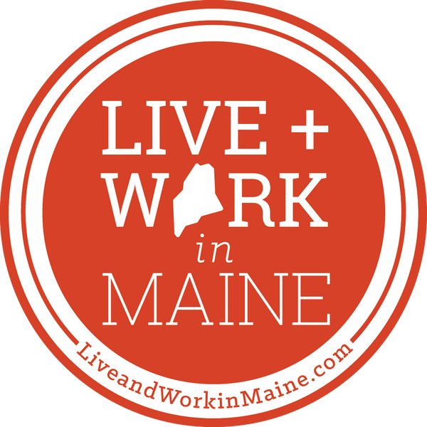 L+W in Maine Sticker – 4""