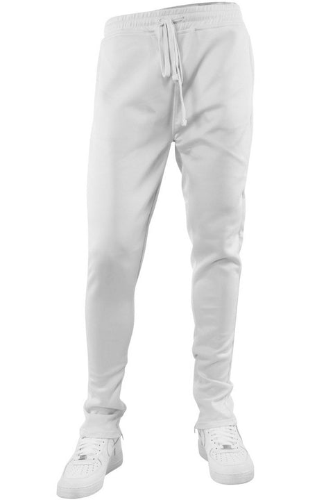 Solid One Stripe Track Pants White (100-400)