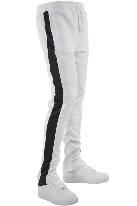 One Stripe Track Pants White - Black (100-403) - Zamage