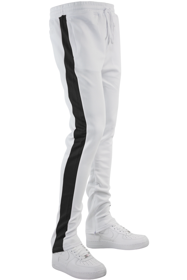 One Stripe Track Pants White - Black (100-403)