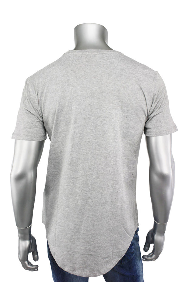 Jordan Craig Elongated Tee Heather Grey (8991A 22S) - Zamage
