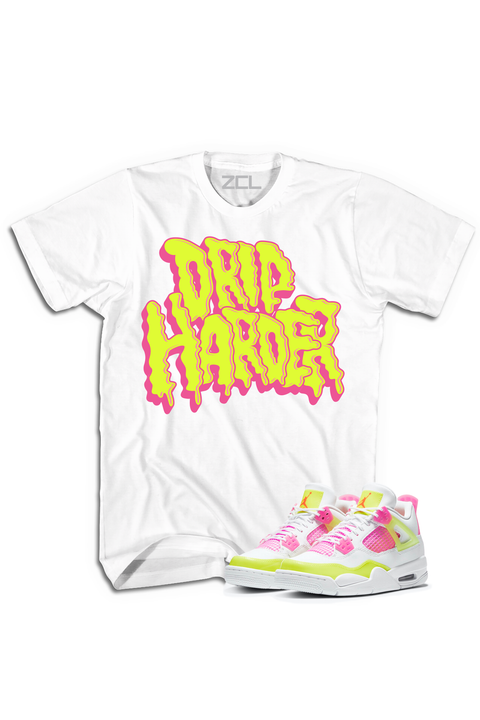 "Air Jordan 4 GS ""Drip Harder"" Tee Lemon Venom"