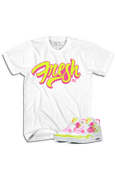 "Air Jordan 4 GS ""Fresh"" Tee Lemon Venom - Zamage"