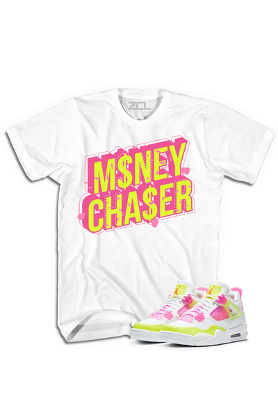 "Air Jordan 4 GS ""Money Chaser"" Tee Lemon Venom - Zamage"