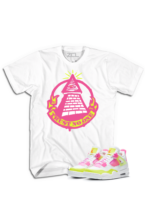 "Air Jordan 4 GS ""Trust No One"" Tee Lemon Venom - Zamage"