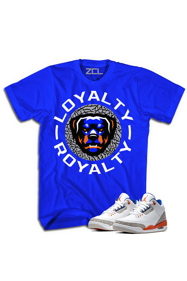"ZCL Loyalty-Royalty Jordan ""Knicks Rival 3""HookUp  Tee Blue"