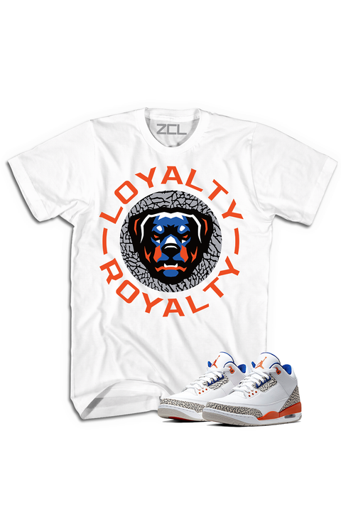 "ZCL Loyalty-Royalty Jordan ""Knicks Rival 3""HookUp  Tee White - Zamage"