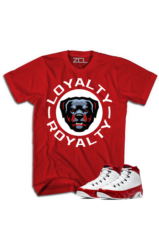 "ZCL Loyalty-Royalty ""Air Jordan 9 Gym Red"" HookUp  Tee Red"