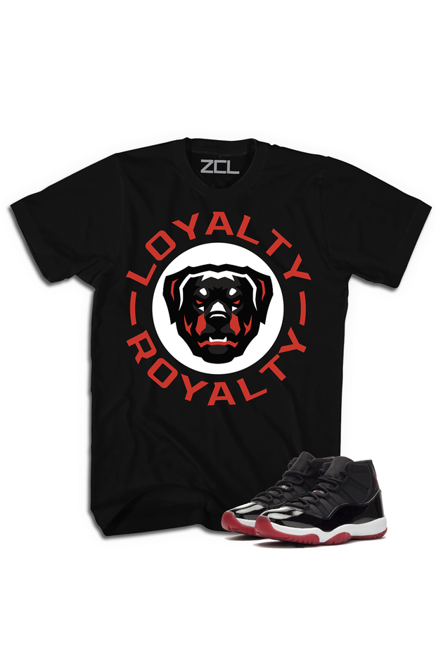 "ZCL Loyalty-Royalty ""Air Jordan 11 Bred"" HookUp  Tee Red - Zamage"