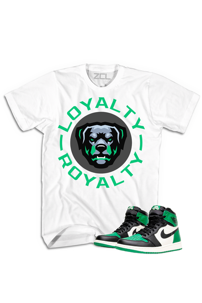"ZCL Loyalty-Royalty ""Air Jordan Retro 1"" HookUp Tee White - Pine Green - Zamage"