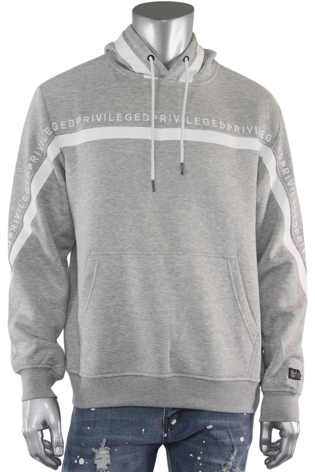 Privileged Pullover Fleece Hoodie Heather Grey (BF0526) - Zamage