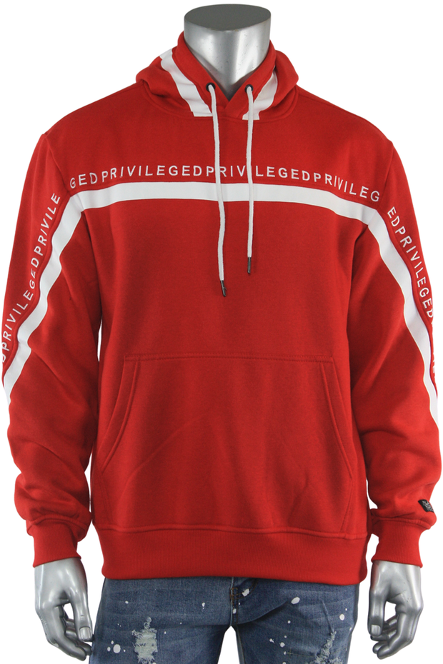 Privileged Pullover Fleece Hoodie Red (BF0526) - Zamage