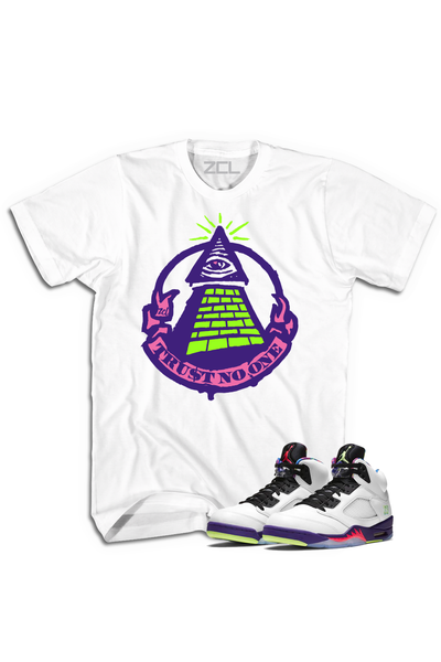 "Air Jordan 5 ""Trust No One"" Tee Alternate Bel Air - Zamage"