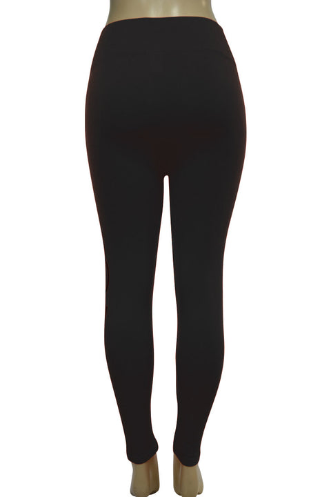 Women's Love Fashion Leggings Black - Silver Foil (CYCLE-101)