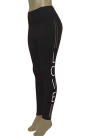 Women's Love Fashion Leggings Black - White (CYCLE-101)