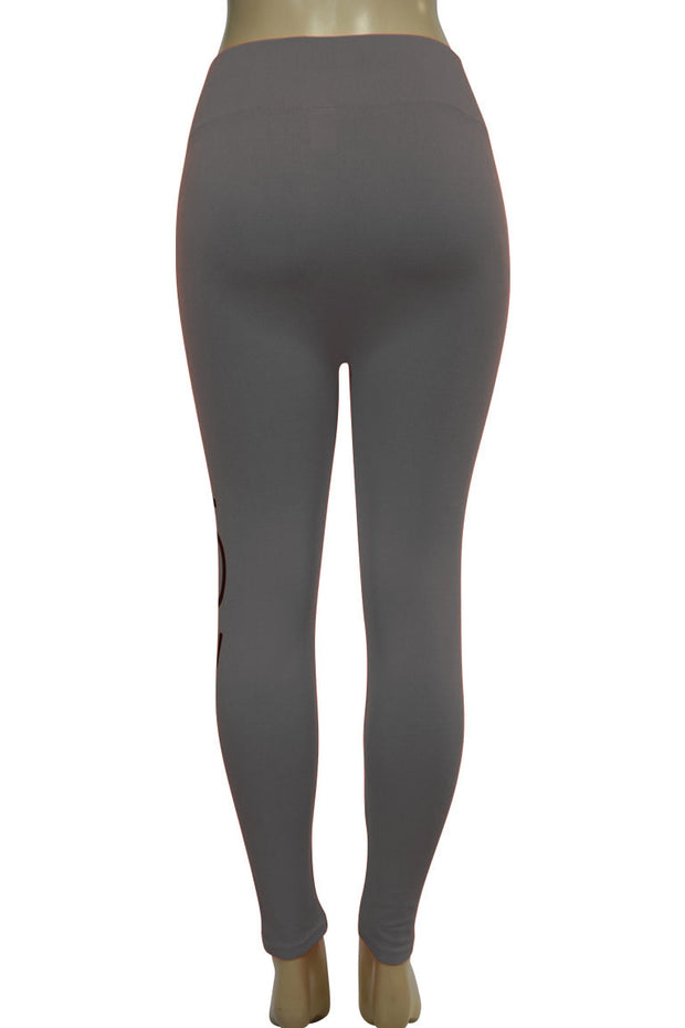 Women's Love Fashion Leggings Charcoal - Black (CYCLE-101)