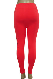 Women's Love Fashion Leggings Red - Black (CYCLE-101)