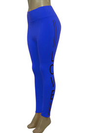 Women's Love Fashion Leggings Royal Blue - Black (CYCLE-101)