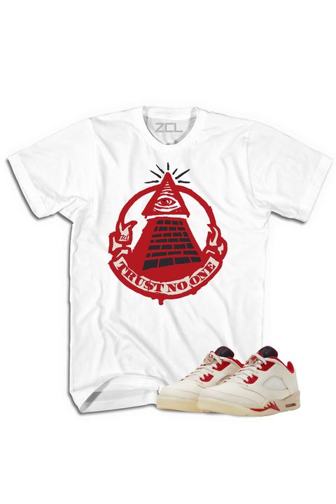 "Air Jordan 5 Low ""Trust No One"" Tee Chinese New Year 2021 - Zamage"