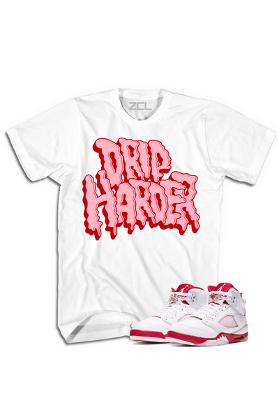 "Air Jordan 5 GS ""Drip Harder"" Tee Pink Foam - Zamage"