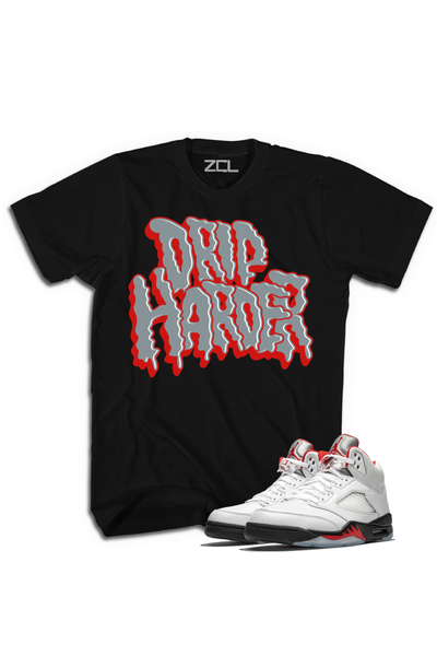 "Air Jordan 5 Retro ""Drip Harder"" Tee Fire Red"
