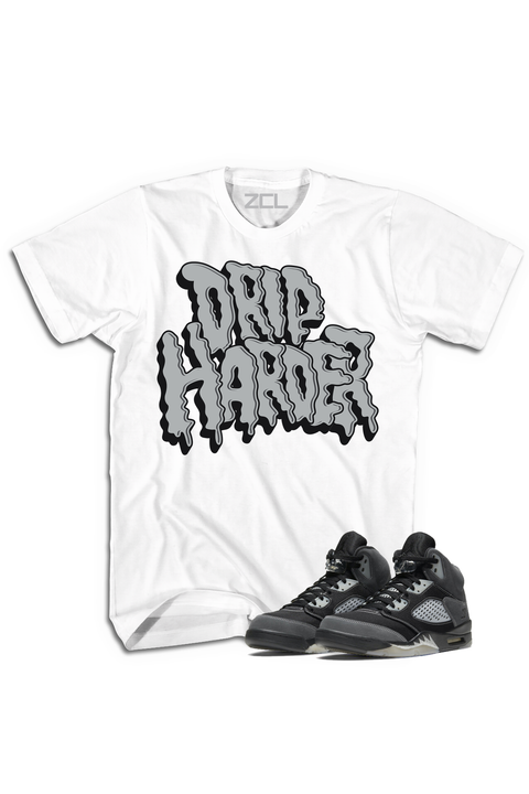 "Air Jordan 5 ""Drip Harder"" Tee Anthracite - Zamage"