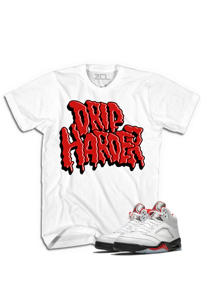 "Air Jordan 5 Retro ""Drip Harder"" Tee Fire Red - Zamage"