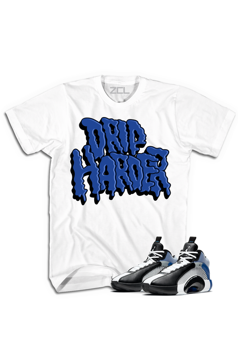 "Air Jordan X Fragment ""Drip Harder"" Tee Sport Blue - Zamage"