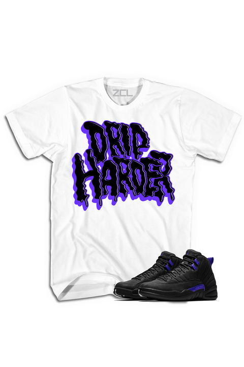"Air Jordan 12 ""Drip Harder"" Tee Dark Concord - Zamage"