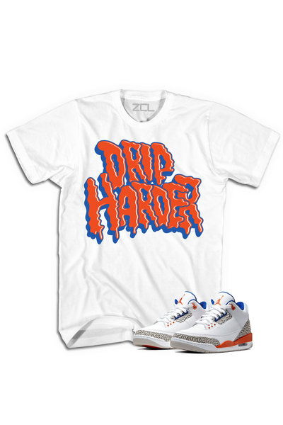 "Air Jordan 3 ""Drip Harder"" Tee Knicks Rival - Zamage"