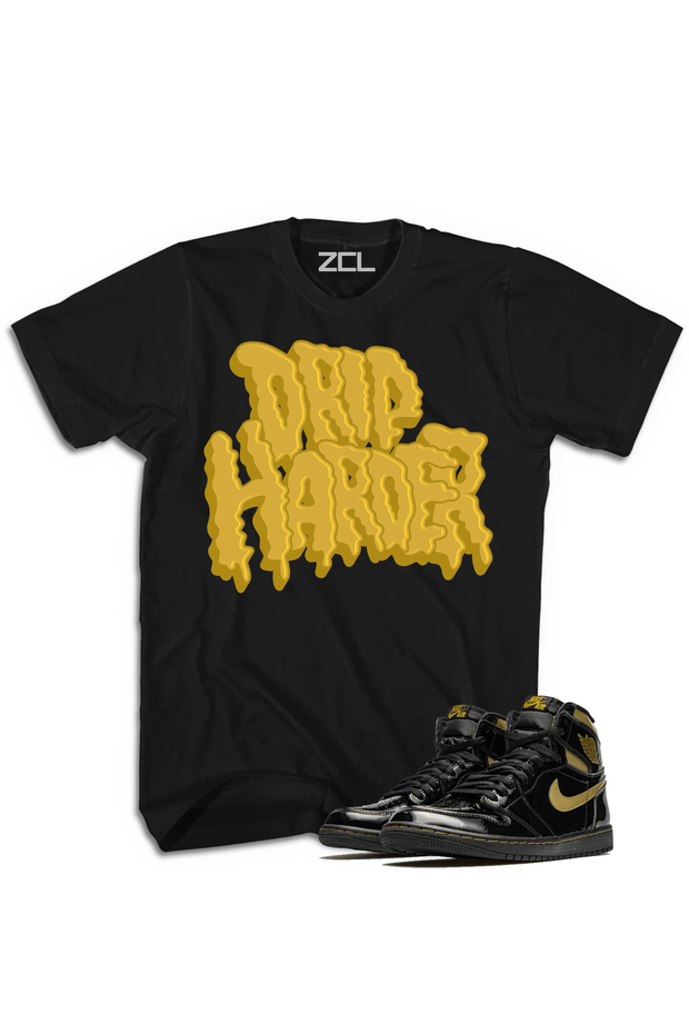 "Air Jordan 1 High OG ""Drip Harder"" Tee Metallic Gold - Zamage"
