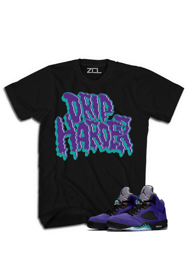 "Air Jordan 5 Retro ""Drip Harder"" Tee Purple Grape"