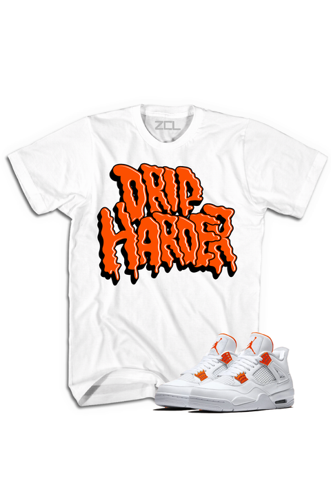 "Air Jordan 4 ""Drip Harder"" Tee Metallic Orange - Zamage"
