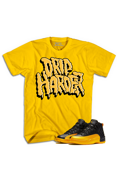 "Air Jordan Retro 12 ""Drip Harder"" Tee University Gold"