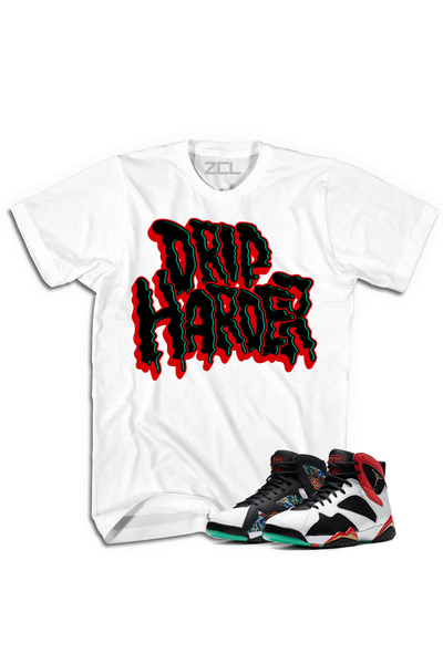"Air Jordan 7 China ""Drip Harder"" Tee Chile Red - Zamage"